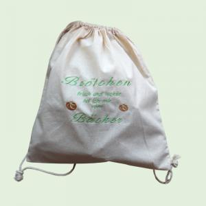 - ♥ Brötchen-Rucksack mit einem dekorativen Muster bestickt ♥ - Rucksack zum Brötchen holen,Baumwolle - Handarbeit kaufen