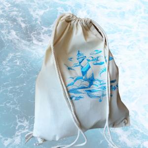 leichter Baumwoll-Rucksack mit bestickten Motiv, - Handarbeit kaufen