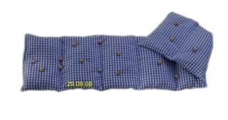 7 Kammer Dinkelkissen/Lavendel Vischy Karo blau/weiß - Handarbeit kaufen