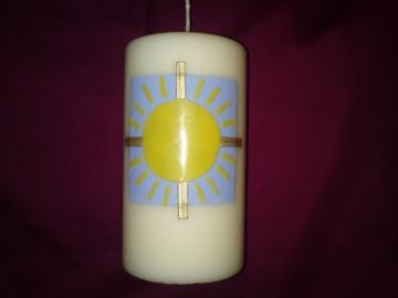 Ähnlich verzierte Kerze für Paten zur Taufkerze Sonne - Handarbeit kaufen