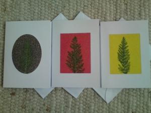 Bunte Weihnachtskarten Sandkarten Karten mit Sand und Pflanzen Grußkarten