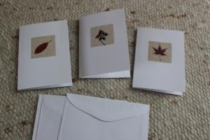 herbstliche Grußkarten mit Sand in quadratischem Passepartout, Sandkarten - Handarbeit kaufen