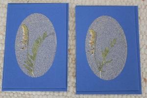 Sandkarten, Grußkarten, blaues Duett - Handarbeit kaufen