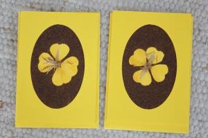 Sandkarten, Grußkarten, gelbes Duett, 2er Set, mit Umschlägen - Handarbeit kaufen