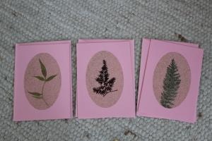 Sandkarten, Grußkarten rosé, mit Umschlägen, 3er Set - Handarbeit kaufen