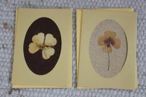 Sandkarten, Glückwunschkarten goldfarben, Goldenes Glück, 2er Set - Handarbeit kaufen