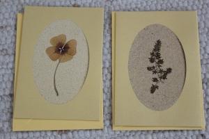 Sandkarten, Glückwunschkarten goldfarben Klee mit Umschlägen, 2er Set - Handarbeit kaufen