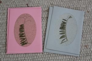 Sandkarten, Geburtstagskarten rose silber mit Umschlägen - Handarbeit kaufen
