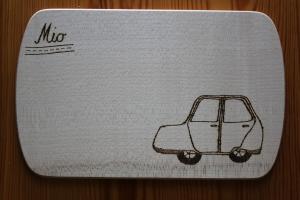 Vesperbrett mit Auto Frühstücksbrettchen Automotiv - Handarbeit kaufen