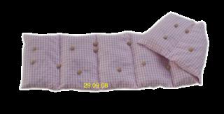 7 Kammer Dinkelkissen/Lavendel Vischy Karo rosa/weiß - Handarbeit kaufen