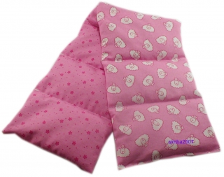 7 Kammer Dinkelkissen/ Lavendel Westfalenstoff mit Schäfchenmotiv rosa - Handarbeit kaufen