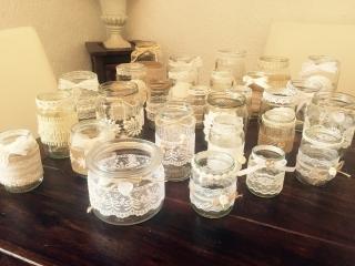 Vintage Dekoset 30 teilig Hochzeit Vasen Teelichthalter ❤️