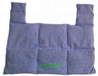 10 Kammer Traubenkern Nackenkissen Vischy Karo blau/weiß - Handarbeit kaufen