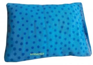 Baldriankissen für Katzen 10 x 7 cm Westfalenstoff punkte blau