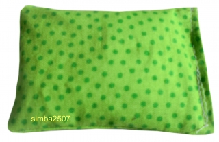 Baldriankissen für Katzen 10 x 7 cm Westfalenstoff punkte grün