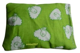Baldriankissen für Katzen 10 x 7 cm Westfalenstoff schäfchen grün