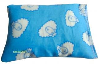 Baldriankissen für Katzen 10 x 7 cm Westfalenstoff schäfchen blau
