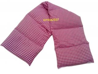 7 Kammer Rapskissen mit Inlett Bezug Vischy Karo pink/weiß - Handarbeit kaufen
