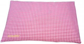 Zirbenkissen 30 x 20 cm mit Inlett und abnehmbaren Bezug rot/balu - Handarbeit kaufen