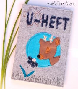 U-Heft Hülle ♥ wunderschöne U-Hefthülle mit Platz für Impfausweis und Krankenkarte