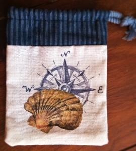 Muschel Geschenke Beutel Säckchen Stoff maritim