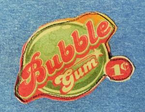 Kinderpullover Pulli Größe 98 Unikat Bubblegum Kaugummi Baumwoll Jersey