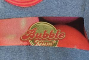Kinderpullover Pulli Größe 104 Unikat Bubblegum Kaugummi Baumwoll Jersey