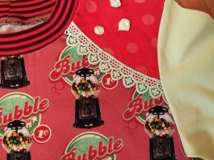 Kinderpullover Pulli Größe 116 Unikat Bubblegum Kaugummi Baumwoll Jersey