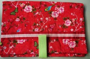 Windeltasche Blumen Schmetterling Vögel rot rosa Geschenk zur Geburt