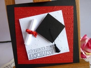Karte zur Promotion / zur bestandenen Prüfung/Abitur zum Abschluss *von IdeenOase*
