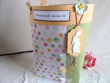 Schwangerschaft / Schwangerschafts-Survival-Kit / Befüllte Tasche für die Schwangere - Handarbeit kaufen