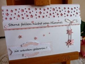 Karte zur Geburtsanzeige eures Lieblings für ein Mädchen - Handarbeit kaufen