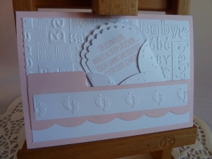 Glückwunschkarte zur Geburt/Taufe für ein Mädchen *von IdeenOase* - Handarbeit kaufen