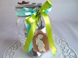 Schwangerschaft / Schwangerschafts-Survival-Kit / Befülltes Glas mit Bügelverschluss für die Schwangere *von IdeenOase*