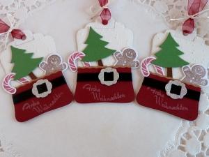 3 Geschenkanhänger/Tags für Weihnachten - Handarbeit kaufen