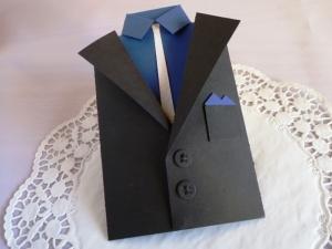 Geburtstagskarte / Glückwunschkarte /Geldgeschenk/Anzugsjacke für einen Mann in XXL