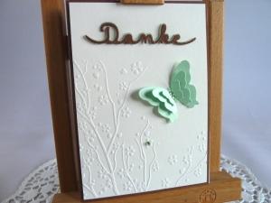 Dankekarte mit Schmetterling *von IdeenOase* - Handarbeit kaufen