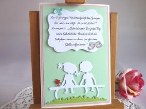 Glückwunschkarte/Grußkarte/Liebeskarte *von IdeenOase*  - Handarbeit kaufen