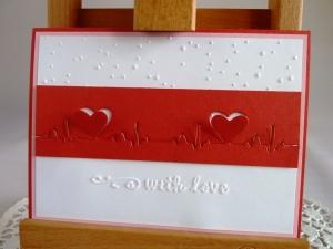 Karte zum Valentinstag/Liebeskarte mit Herzschlagkurve *von IdeenOase* - Handarbeit kaufen