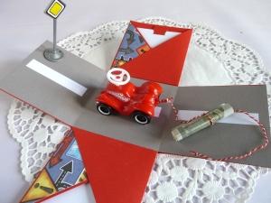 Explosionsbox/Geldgeschenk zum Geburtstag/zum Führerschein/zum Auto - Handarbeit kaufen