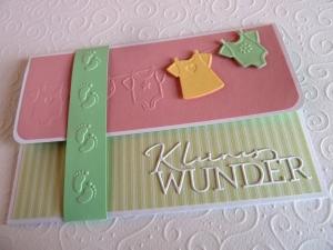Geldgeschenkkarte zur Geburt, Taufe, Gutscheinkarte, Grußkarte, Glückwunschkarte