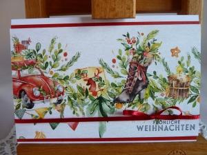 Weihnachtskarte Klappkarte mit wunderschönem Motiv