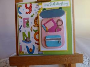 Karte zur Einschulung, erster Schultag, zum Schulanfang - Handarbeit kaufen