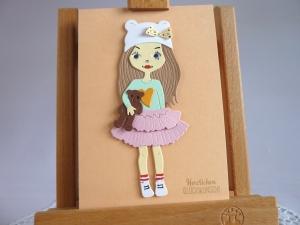 Glückwunschkarte zum Geburtstag, Geburtstagskarte für Mädchen - Handarbeit kaufen