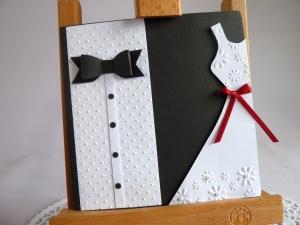 Edle Hochzeitskarte in schwarz/weiß - Handarbeit kaufen