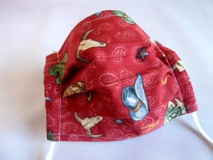 Behelfsmaske, Gesichtsmaske, Mund-Nase-Maske, wiederverwendbar, waschbar, mit Nasenbügel - Handarbeit kaufen