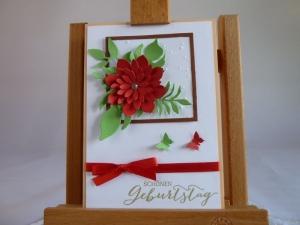Geburtstagskarte mit Blütenbouget *von IdeenOase* - Handarbeit kaufen