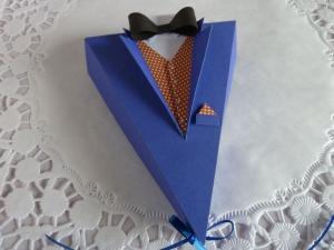 Schachtel/Box in Anzugsjackenform für Geldgeschenk/Gutschein für den Herrn *von IdeenOase*