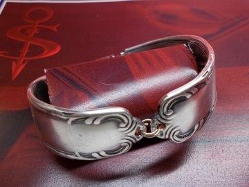 Besteckschmuck Armband Armreif mit Magnet ♥ Chippendale - Handarbeit kaufen