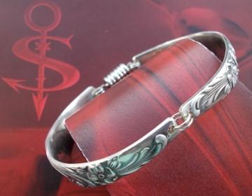 Besteckschmuck Armband Armreif mit Magnet ♥ Flora